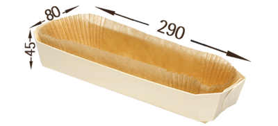 Houten bakvorm + bakpapier