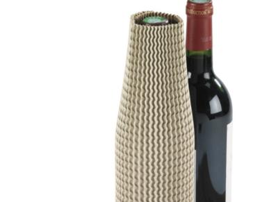 Kartonnen sleeve/beschermmof voor flessen. Ø7x30cm, verpakt per 100 stuks
