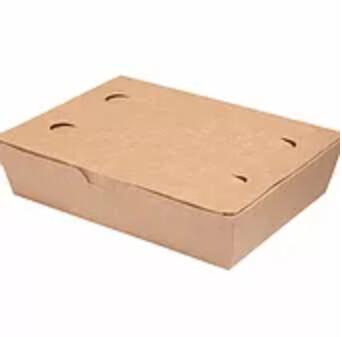 No. 2 Bio Takeaway Box 1400ml/200x140x50mm, verpakt per 50 stuks