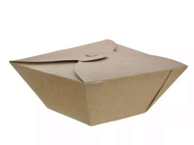 Bio Takeaway saladebox 1000ml/95x95x70mm, verpakt per 200 stuks