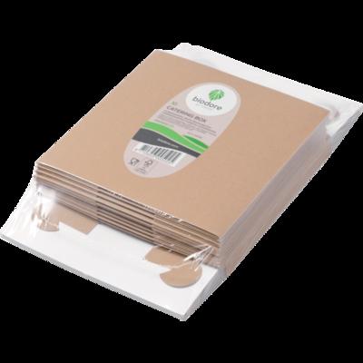 Biodore® Zwanenhalsdoos, kraft, 30x30x9cm, bruin, verpakt per 10 in een krimp
