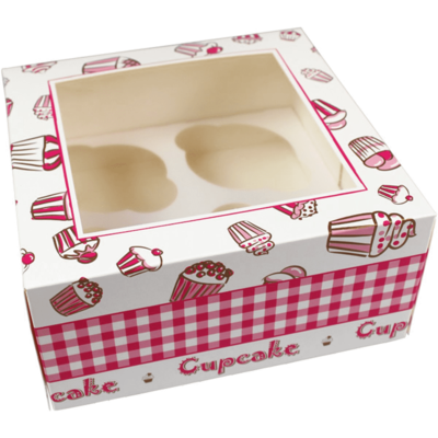 Gebaksdoos specials, karton, 17x17x8cm, wit, verpakt per 100 stuks