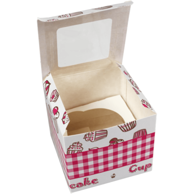 Gebaksdoos specials, karton, 9x9x8cm, wit, verpakt per 300 stuks