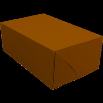 Gebaksdoos, kraftkarton, 24x16x9cm, bruin, verpakt per 100 stuks