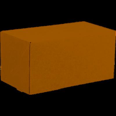 Gebaksdoos, kraftkarton, 18x10x9cm, bruin, verpakt per 100 stuks