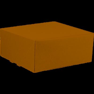 Gebaksdoos, kraftkarton, 21x21x9cm, bruin, verpakt per 150 stuks