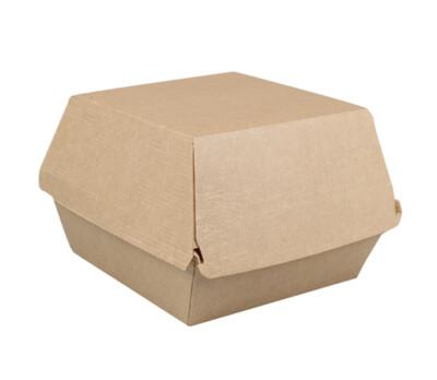 FSC® kraftgolfkarton hamburgerbox 12x12x10cm, extra stevig, verpakt per 318 stuks
