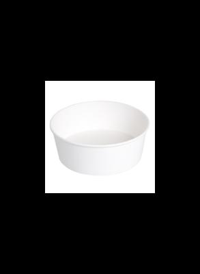 Witte kraft/PE Saladebowl 1300ml/18,5cmØ x 7cm, verpakt per 300 stuks