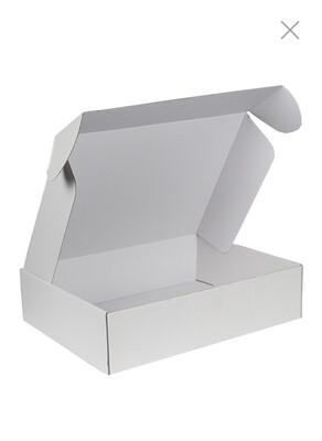 Postdoos met klepsluiting wit 40x30x10cm, verpakt per 50 stuks