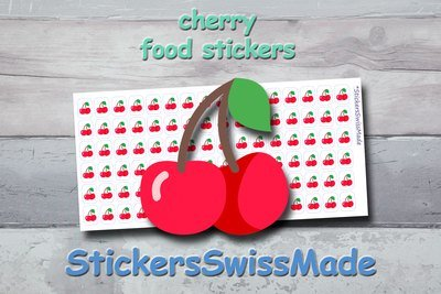 CHERRY - food stickers - multicolored