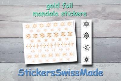 MANDALA STICKERS - gold foil mandala stickers - Nbr. 6.1