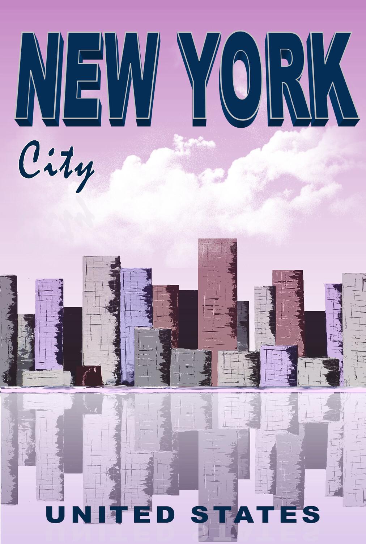 NEW YORK   50X70 cm ou 42X60cm