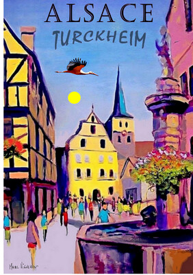 TURCKHEIM Alsace  50X70 cm