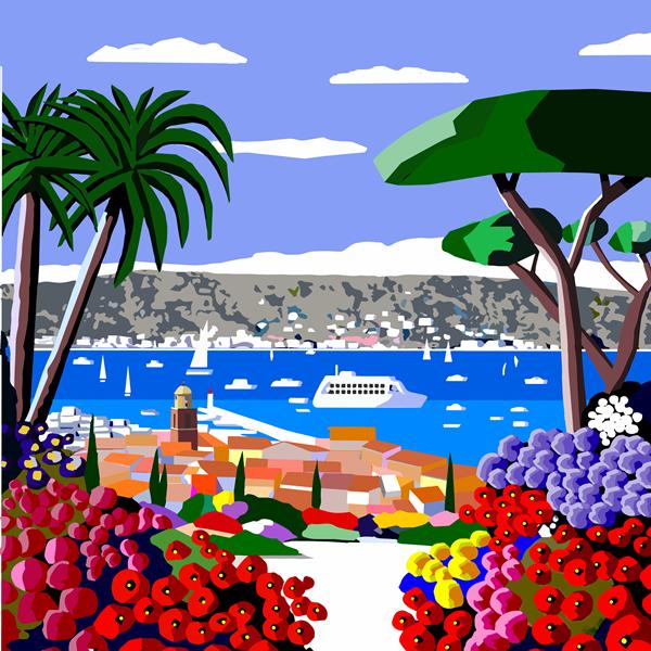 Floraison a St Tropez  . 60X60