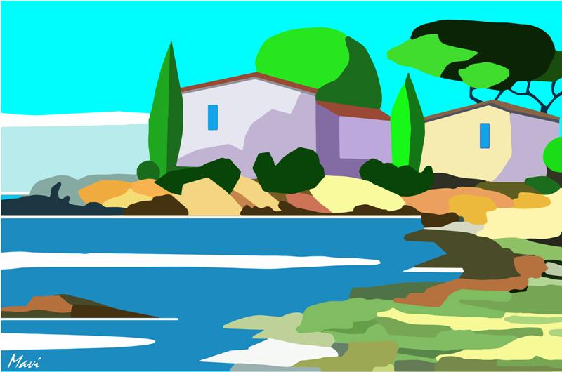 Paysage méditerranéen -