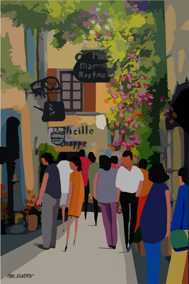 SAINT PAUL DE VENCE (Grand Rue) 42X60 ou 50X70cm