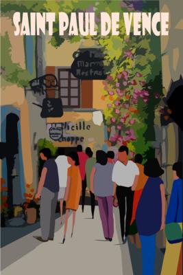 SAINT PAUL DE VENCE - Rue Grande