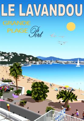 LE LAVANDOU - Le Port vu de l'hôtel Beau rivage