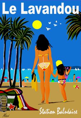 LE LAVANDOU -La plage