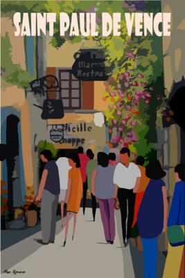 SAINT PAUL DE VENCE - Grande rue