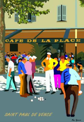 SAINT PAUL DE VENCE - Café de la place-les boulistes
