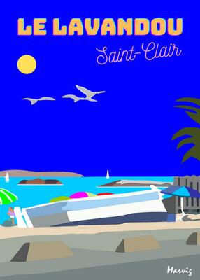 LE LAVANDOU.  POINTU DE  SAINT-CLAIR