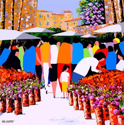 Marché fleuri provençal