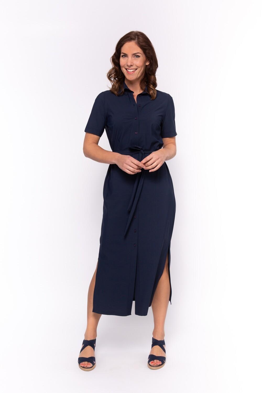 TRAVEL Dress blouse Lola 1/2 SS Navy