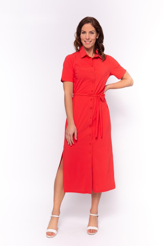 TRAVEL Dress blouse Lola 1/2 SS Rood