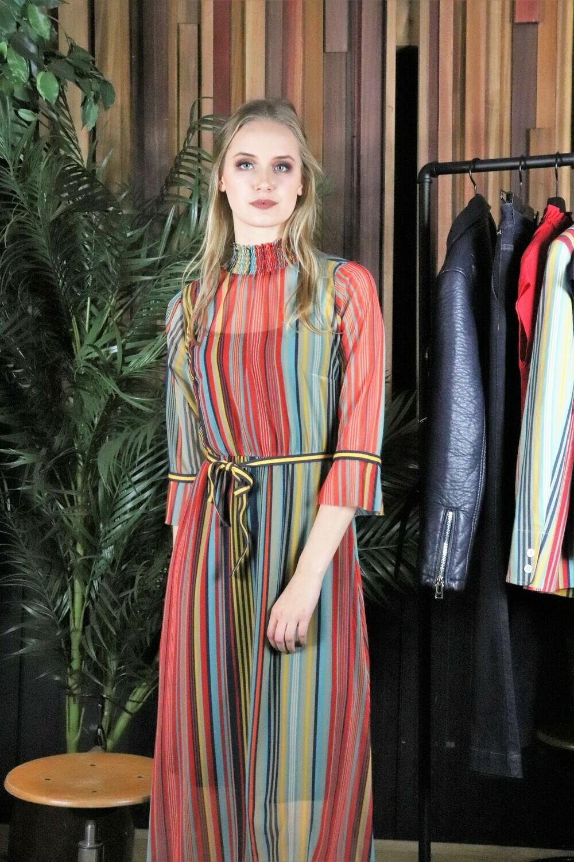 Carley Stripe Dress, laatste stuks