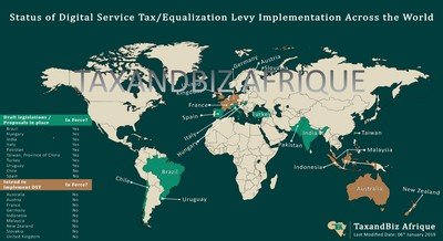 Map on Status of Digital Service Tax Implementation