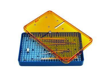 Plastic Sterilization Tray Large with Rubber Mat