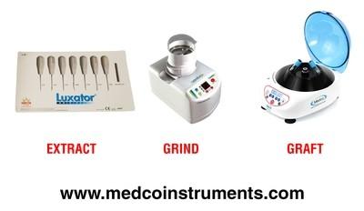 7 Pc Luxators - Dentin Grinder - Centrifuge