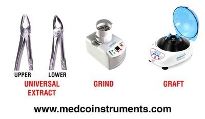 Extraction Forceps - Dentin Grinder - Centrifuge
