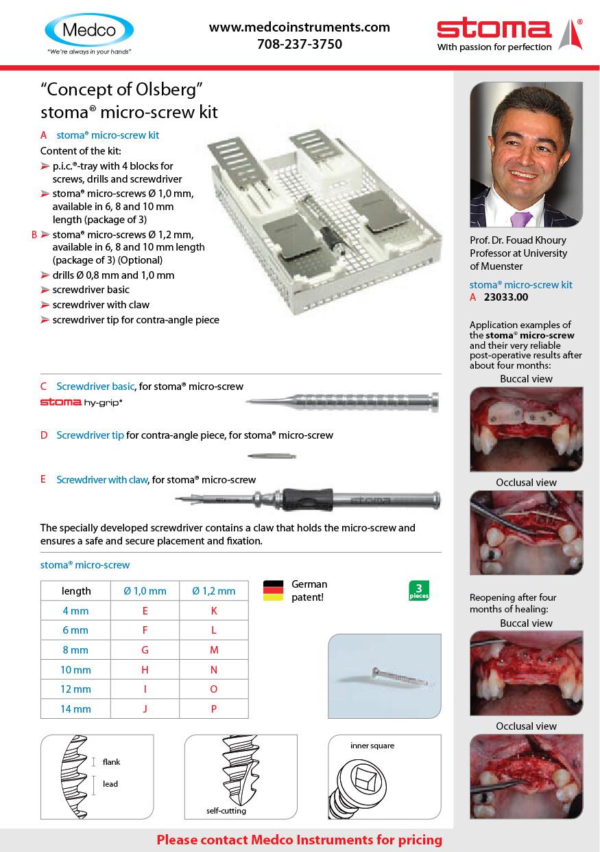Stoma Micro Screw Kit