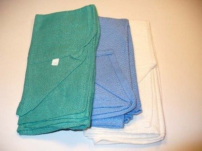 Green Non Sterile Dozen Towels Cotton