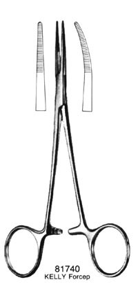 PROVIDENCE Forceps Curved 5.5
