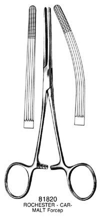 ROCHESTER-CARMALT Forceps Straight 8