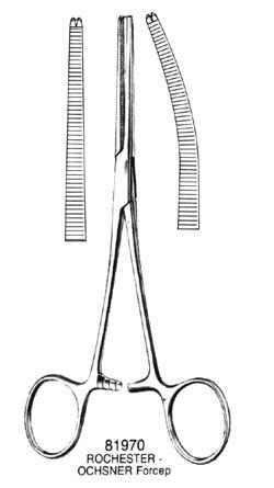 ROCHESTER-OCHSNER Forceps Straight 8