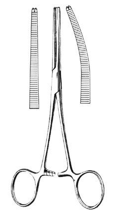 ROCHESTER-OCHSNER Forceps Curved 8