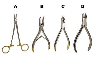 Orthodontic Pliers/Cutters Set of 4