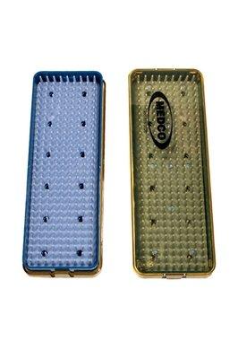 Plastic Micro Sterile Tray Small Cassette  w/ Rubber Mat