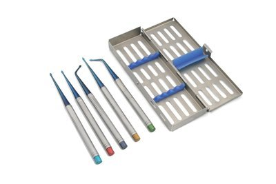 Bernard Spade Root Fragment Extraction Elevator Set of 5 with case