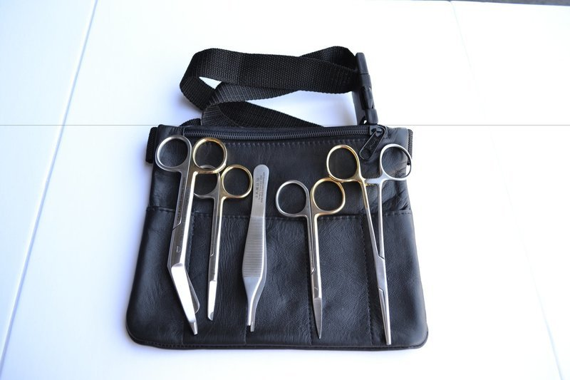 LEFT HANDED Veterinary Technician Pak w/ Leather pouch