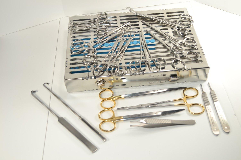 General Veterinary Surgery Kit w/ Metal Case