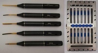 Flex Peritome set of 5 with Metal Case