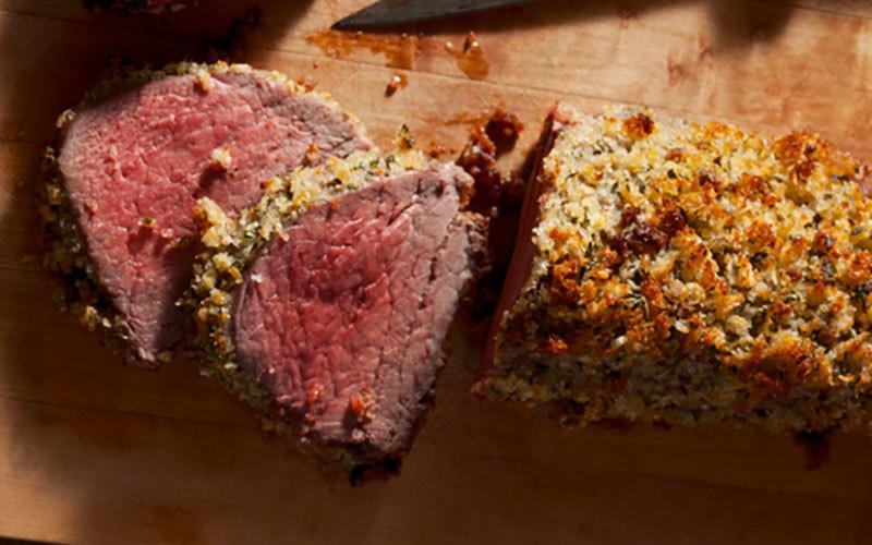 Parmesan-Herb Crusted Beef Tenders
