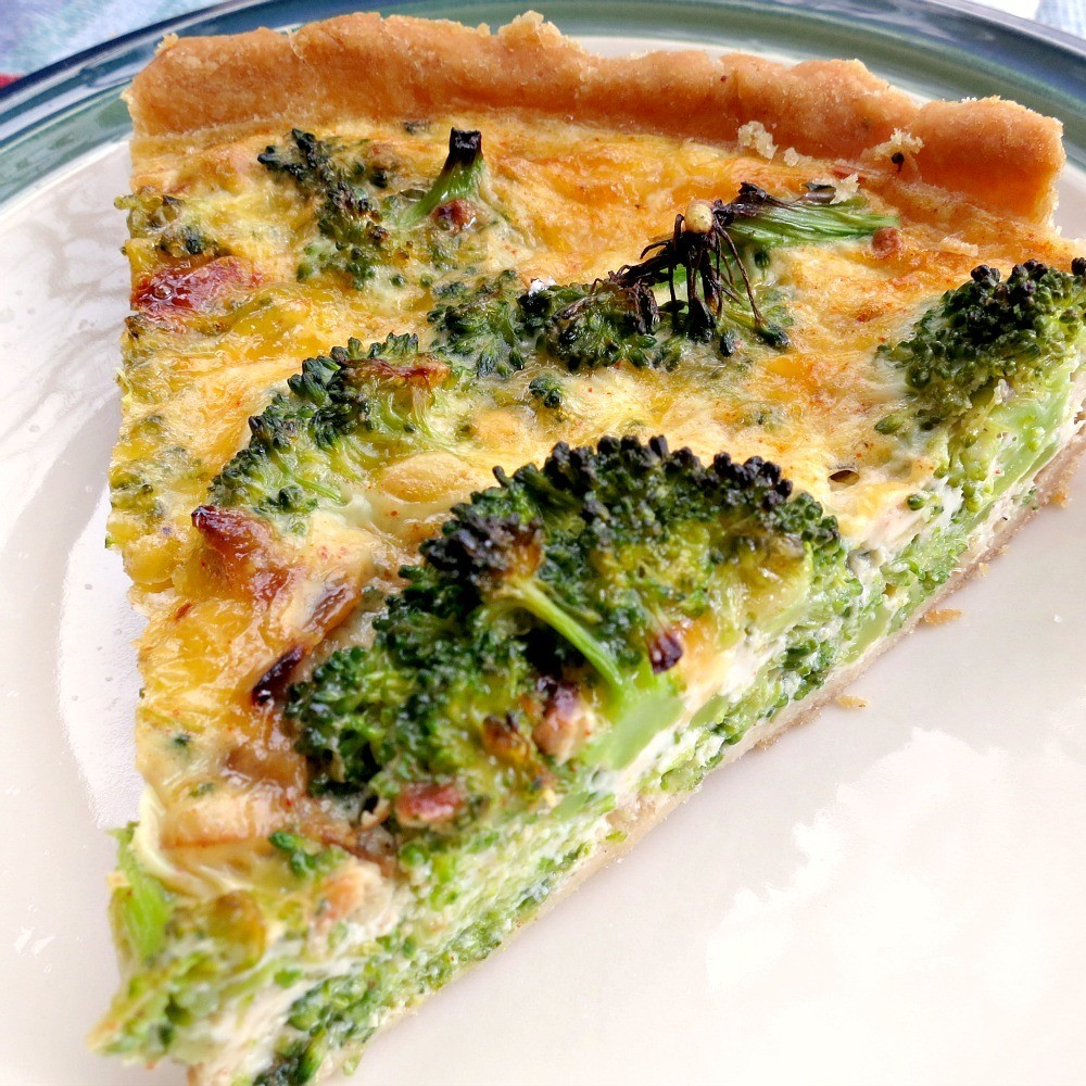 Bacon, Broccoli & Cheddar Quiche