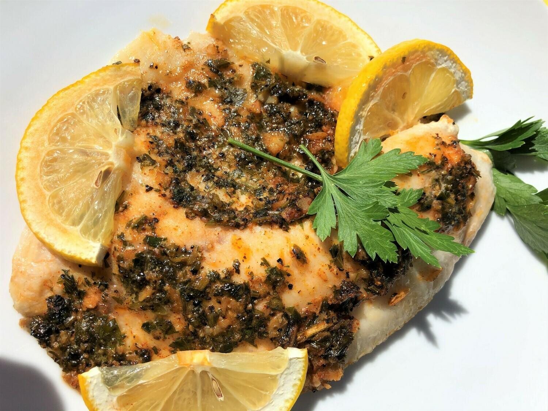 Spicy Lemon Garlic Baked Cod - GF