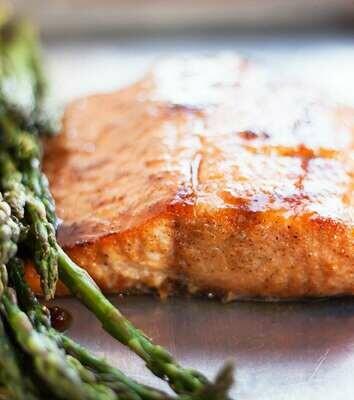 Bourbon Basted Salmon - GF